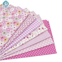 7 pcs 50cm*50cm Pink 100% Cotton Fabric for Sewing DIY Quilting Patchwork Tissue Kids Bedding Textile Tilda Doll Cloth