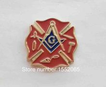 Custom lapel pin Wholesale 100pcs Masonic Lodge Fireman Fire Service First Responder Lapel Pin