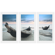 Professional Canvas Oil Wall Picture Painting Ornament Beach Boat Modern Art Wall Home Decoration Print
