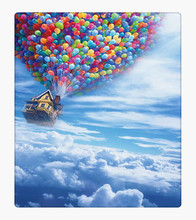 Colorful Balloon Up in the Blue Sky Film Scenic Photography Background Newborn Digital Printed Photo Backdrop for Studio Custom