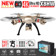 SYMA X8W X8G X8HG X8HW FPV RC Drone With H9R 4K/1080P WIFI Camera HD 2.4G 4CH 6 Axis RC Quadcopter Helicopter VS MJX Bug3(China)