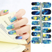 NEW DIY Designer Water Transfer Nails Art Sticker Van Gogh America Flag Lolita Styles Nail Stickers Wraps Foil Sticker manicure