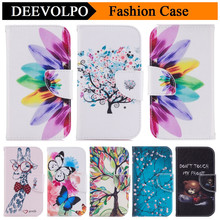 DEEVOLPO Fashion PU Leather Wallet Case For Sony Xperia XA XA1 XZS XZ S L1 E6 Tree Butterfly Flower Stand Flip Cover Capa DP116