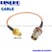 15CM 1/2ft RG316 pigtail jumper cable waterproof BNC female to SMA female connector