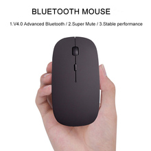 2.4G Wireless Mouse Rechargeable Bluetooth Mice for Dell/Hp/Lenovo Ideapad 710s/Acer/Asus Silent Mouse for Computer Laptop Pc