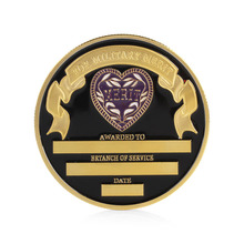 Purple Heart Military Merit Commemorative Challenge Coin Collectible Physical Gift(China)