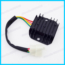 4 Wire Male Plug Voltage Regulator Rectifier For GY6 Moped Scooter Motorcycle ATV Quad Dirt Bike