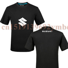 SUZUKI car logo T shirt 100% cotton short-sleeved T-shirt