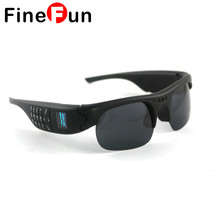 FineFun Bluetooth Sunglasses Mini DVR DV Audio Video Recorder Camcorders Video Camara MP3 Smart Glasses Support TF Phone Card(China)