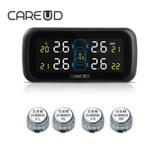 CAREUD U903 TPMS Wireless Tire Pressure Monitoring System Car 4PCS Mini External Sensors No Need to Disassemble the Tires Auto