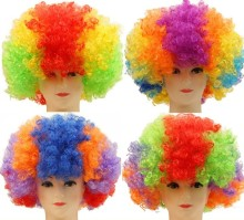 Halloween Christmas Hats Costume Hair Wig Football Fan Wig Clown Party Show Hair wigs Child Adult Colorful Free Shiping