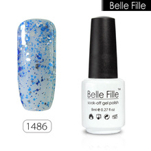BELLE FILLE 8ml Professional UV Nail Gel Polish Varnish Nail Gel LED Gel Lacquer vernis semi permanent Nail Art Halloween Makeup