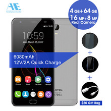 "Oukitel K6000 Plus 6080mAh Android7.0 Cellphone MTK6750T Octa Core Smartphone 5.5"" FHD Screen 4G RAM 64G ROM 4G LTE Mobile Phone"
