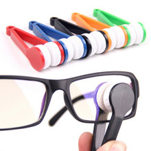 1 PC New Microfiber Eyeglass Sunglasses Cleaner Sun Glasses Glass Cleaner Cleaning Tool Glass Clean Brush At Random 7.1x2.4cm(China)