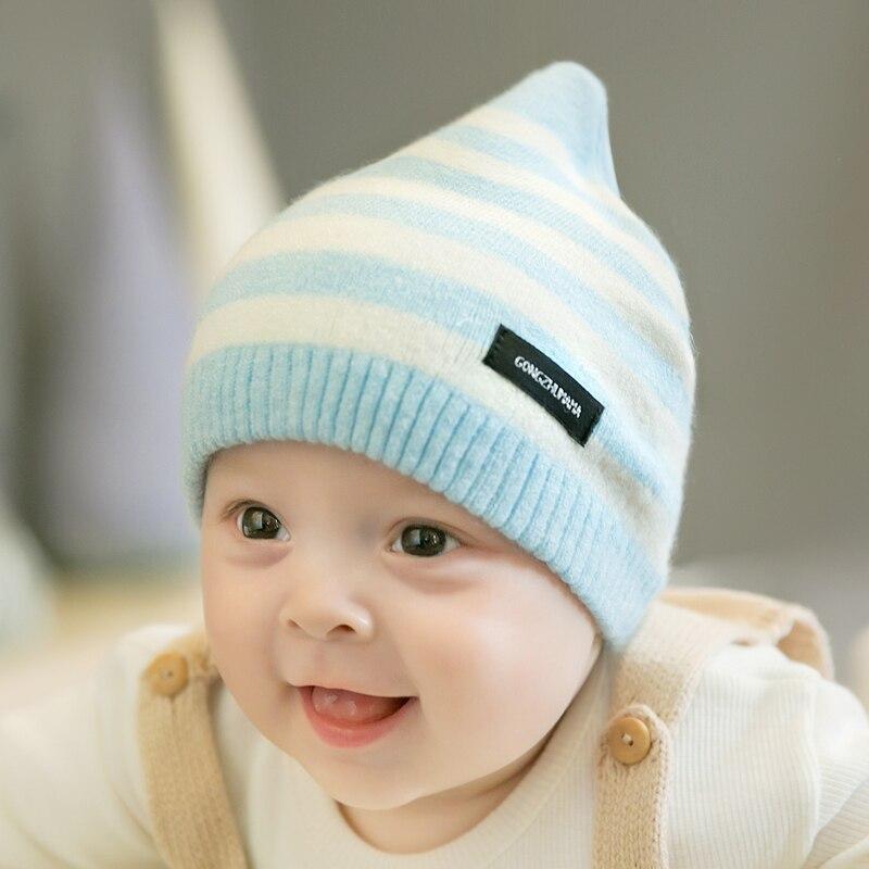 CieiK Newborn Photography Props Soft Baby Hat Warm Children Winter Cap Boys Girls beanie Infant Striped Muts Baby Accessories (17)