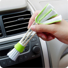 hot sell Car Washer Microfiber Clean Brush Air Condition Computer Clean Tools Blinds Dust(China)
