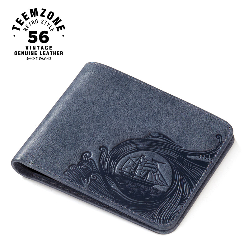 Genuine Leather Personalized Wallets For Men European And American Style  Short Cow Leather  Drivers License Purse J50<br>