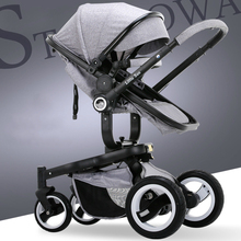 Free shipping Uhababy fashion baby stroller folding child cart shock absorbers baby car pram