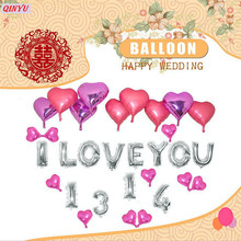 Foil Balloons Letter air Ballons 1set Anniversary Wedding Event Decor Air Baloons Party Supplies and Confession site decorati 6z(China)