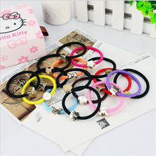 Fashion Women Elastic Hair Bands Black Scrunchy Candy Headband Bow Ring Girl Hair Accessories Rubber Gum Ornaments Random 10pcs