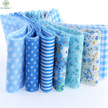 HOT 5*50cm 7pcs 100% Cotton blue New Year Christmas Decoration Tildas Roll Crafts Sewing Roll Set Hair Accessories TX-1-3
