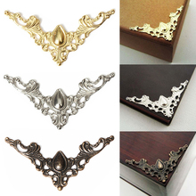 12PCS Metal Book Corner Protector Box Book Scrapbook Album Corner Decorative Protector Cover For Antique Brass Jewelry Box Gift