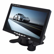 7 Inch TFT LCD Car Rear View Monitor  234 x 480 Pixe x 4l Screen with Remote Control Universal Car Headrest LCD Screen Monitor