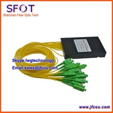 FTTH 1*16 PLC Fiber Optical Splitter, ABS packing type, with SC/APC connector, can be used for GPON EPON OLT