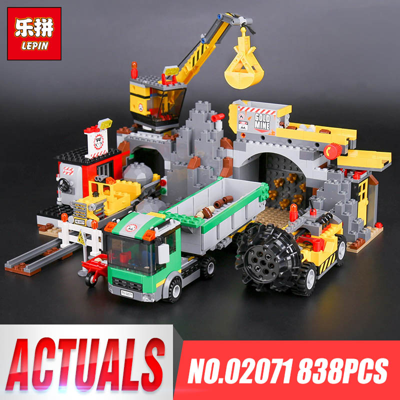 Lepin 02071 Genuine 838Pcs City Series The City Mine Set 4204 Building Blocks Bricks Toys For Educational Pretty Christmas Gifts<br>