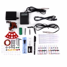 Professional Tattoo Kits Tattoo Gun Starter Kits Tattoo Equipment Body Art Machines with POWER SUPPLIES Grip Needles