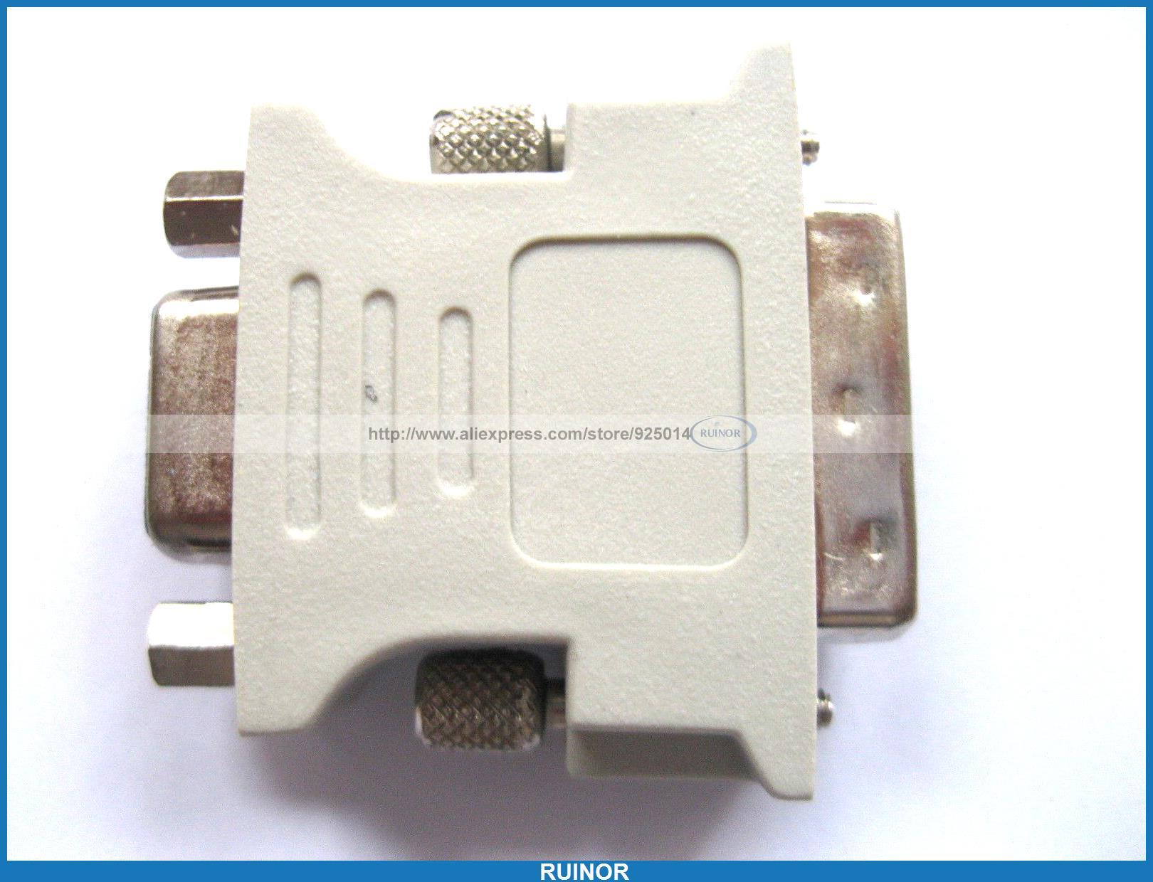 10 Pcs Male DVI Dual Link to Female SVGA VGA Connector 24 1<br><br>Aliexpress