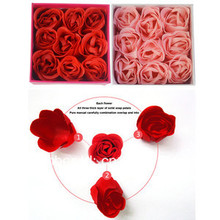 9x Rose Flower Petal Soap Wedding Party Brithday decor Favors With Gift Box 6676 HmsqE