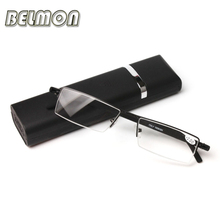 TR90 Temple Mini Magnetic Reading Glasses Men Women Diopter Presbyopic Prescription Eyeglasses  +1.0+1.5+2.0+2.5+3.0+3.5 RS054