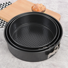 Non-stick s/m/l Metal Round Shape Pan Cake Mold Baking molds Cake Buckle Mould Decorating Tools black color drop shipping(China)