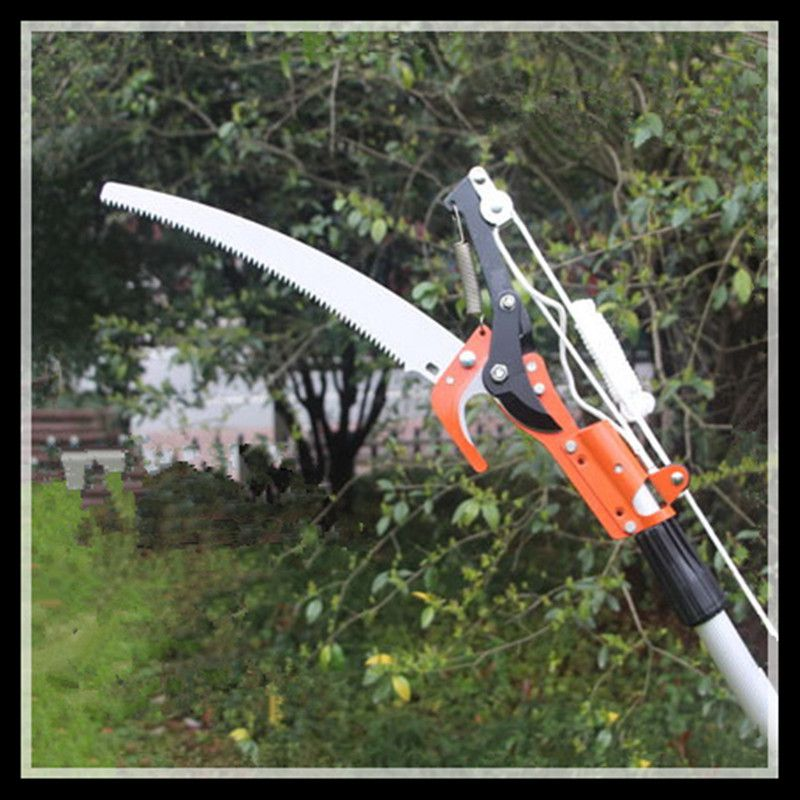 Two pulley cut head pruning shears garden tools telescopic Pruning Shears (cut head + saw blade + rope no rod)<br>