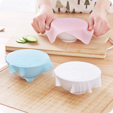 WHISM Cling Film Bear Stretch Wrap Cover Eco-Friendly Silicone Reusable Pot Lids Cooking Pan Bowl Cover Home Kitchen Utensils(China)