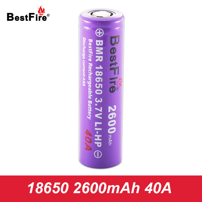 Bestfire Rechargeable 18650 Battery 3.7V Li-ion 2600mAh 40A Electronic Cigarette Battery 18650 Eleaf iStick Pico Vape Mod
