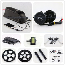 Bafang BBS02 48V 750W electric bike motor 8Fun mid drive electric bicycle conversion kit with 48v 10.4ah li-ion battery