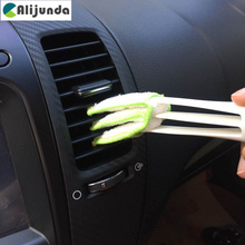 Double head car air conditioning rair outlet shutter window cleaning brush for Geely Vision SC7 MK CK Cross Gleagle SC7 Englon