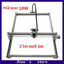 DIY 10Whigh power laser engraving machine metal CNC laser cutting machine 1*1m wide size laser engraving machine marking machine(China)