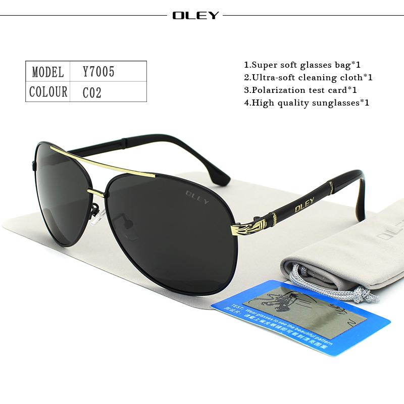 OLEY Luxury sunglasses men polarized Classic pilot Sun glasses fishing Accessories driving goggles gafas de sol zonnebril mannen 7