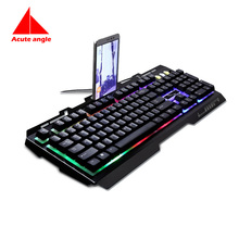 Replace Keyboard Gold  104 Keys Metal Led Light Gaming Gamer Game Usb Multimedia  Waterproof For Computer PC Desktop Keyboard