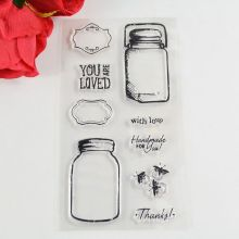 Coolhoo 1pc bottle TPR Silicone clear Transparent Stamp DIY Scrapbooking/Card Making/ Decoration Supplies