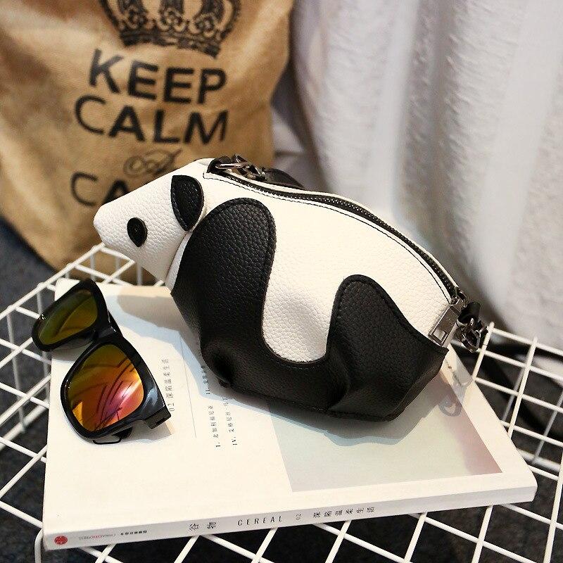 Personality 3D Panda Lady Messenger Bag Fresh cartoon animal shoulder bags for ladies<br><br>Aliexpress