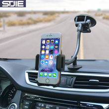 STJIE universal car phone holder long arm car windshield phone stand for smartphone cellphone iphone(China)