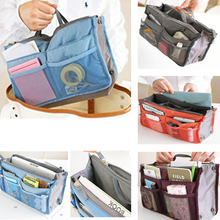 Multi Colors Bag in Bag Makeup Handbag Organizer Insert Handbag Multi Functional Women Cosmetic/Travel Bags(China)