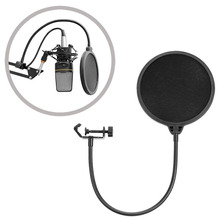 Neewer NW008 Pro Microphone Pop Filter with Metal Clamp Arm 6-inch Double Mesh Screen for Recording in Studio/Radio Station
