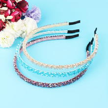 1 Pcs Fashion Headband Hairbands New Arrival Metal Shiny Crystal Hair Band Jewelry for Women Girl Lady Gifts Hair Accessaries(China)