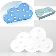 1pcs Lovely White/Blue Cloud LED Night Light Warm White Table Lamp Marquee LED light Nice Gifts for Children Room Decorations