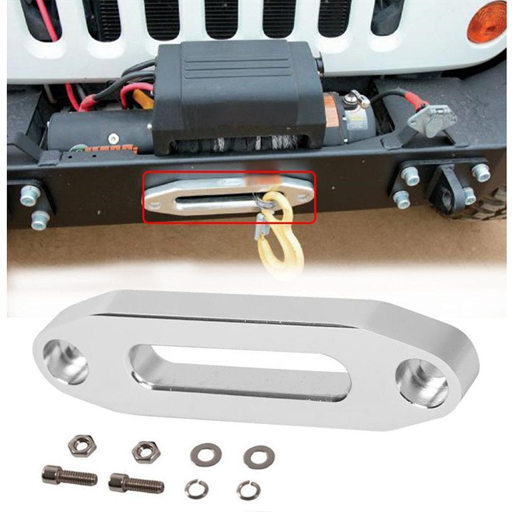 1 set 5600.3096 MAGNA Polished Aluminum Universal ATV / UTV Hawse Fairlead for Synthetic Rope with screws(China (Mainland))